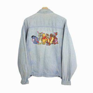Vintage The Disney Store Denim Trucker Jacket Pooh